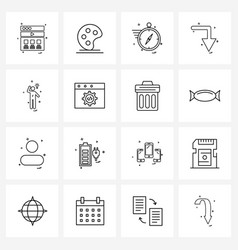 Pixel perfect set 16 line icons such as man vector