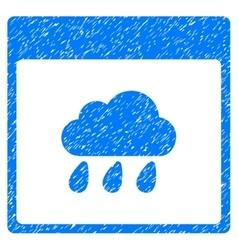 Rain Cloud Calendar Page Grainy Texture Icon vector image