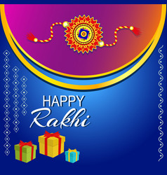 Rakhi celebration vector