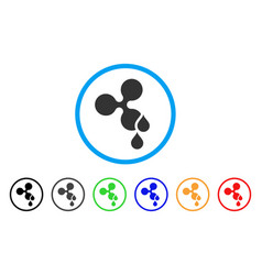 Ripple blood drops rounded icon vector