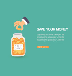 save your money web human vector image