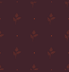 seamless floral pattern autumn background line vector image