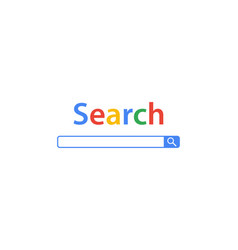 search bar element design of search boxes vector image