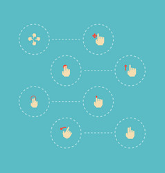 Set of gesticulation icons flat style symbols with vector