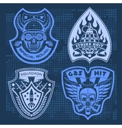 Set Of Military - Army Patches and Badges 4 vector