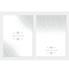 Silver Banners and Cards vector image