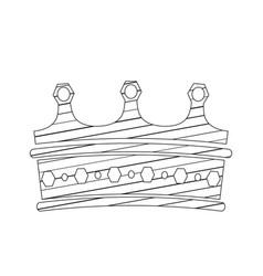 sketch of a royal crown vector image