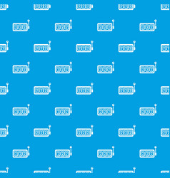 slots pattern seamless blue vector image