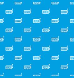 Slots pattern seamless blue vector