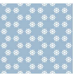 Snowflakes seamless pattern delicate blue white vector