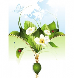 spring background with butterf vector image vector image