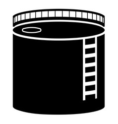 Tank with oil oil storage tank heating oil icon vector