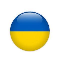 ukraine flag on button vector image