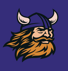 viking head image vector image