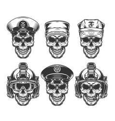 Vintage military monochrome concept vector