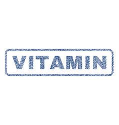 Vitamin textile stamp vector