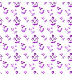 Watercolor seamless floral pattern vector