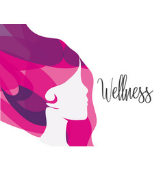 Wellness woman balance with natural treatment vector