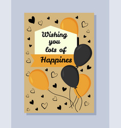 wishing you lots of happiness vector image