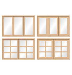 Wood window frame vector