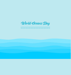 World ocean day background style collection vector