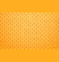yellow brick wall background vector image