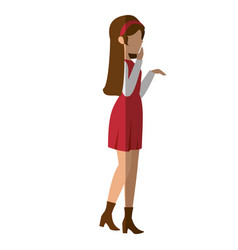 young woman cartoon vector image