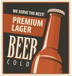 Beer retro vector image vector image