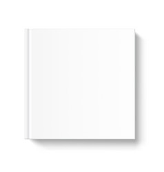 blank square book cover template on white vector image vector image