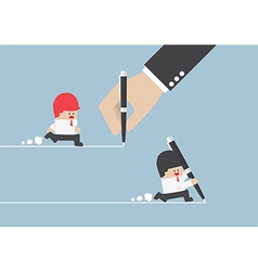 Businessman create own way to success vector image