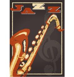 Jazz poster vector image
