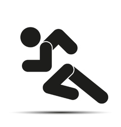 Running people simple symbol of run isolated on a vector image