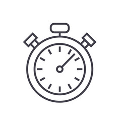 stopwatchtimer line icon sign vector image