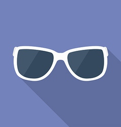 Sunglasses icon Modern Flat style with a long vector image vector image