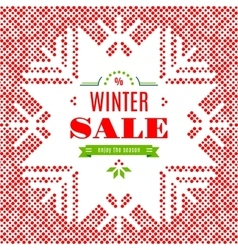 Winter Sale background poster card vector image
