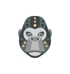 Gorilla African Animals Stylized Geometric Head vector image vector image
