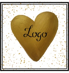 heart watercolor gold vector image