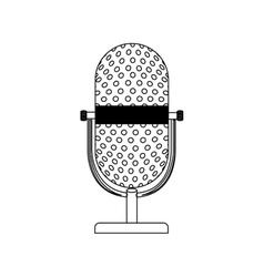 monochrome contour with desktop microphone vector image vector image