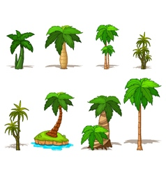 palm tree collection vector image vector image