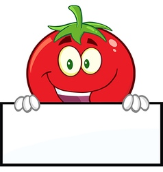 Tomato Cartoon With a Sign vector image vector image