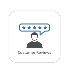 Customer Reviews Icon Flat Design vector image