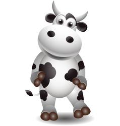 cute cow vector image