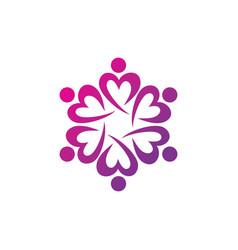 education teamwork logo vector image