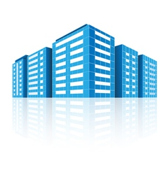 Icons of buildings vector image vector image