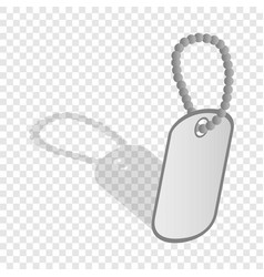 identification army badge isometric icon vector image