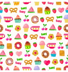 sweet pattern vector image vector image