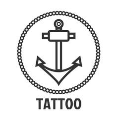 tattoo master studio salon marine anchor vector image vector image