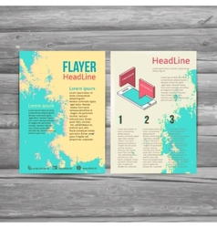 Abstract brochure flyer design template social vector