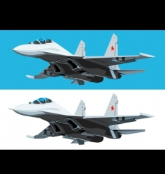 air fighter in fly vector image vector image