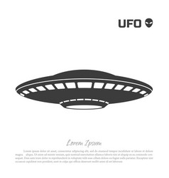 black silhouette ofa ufo on white background vector image vector image